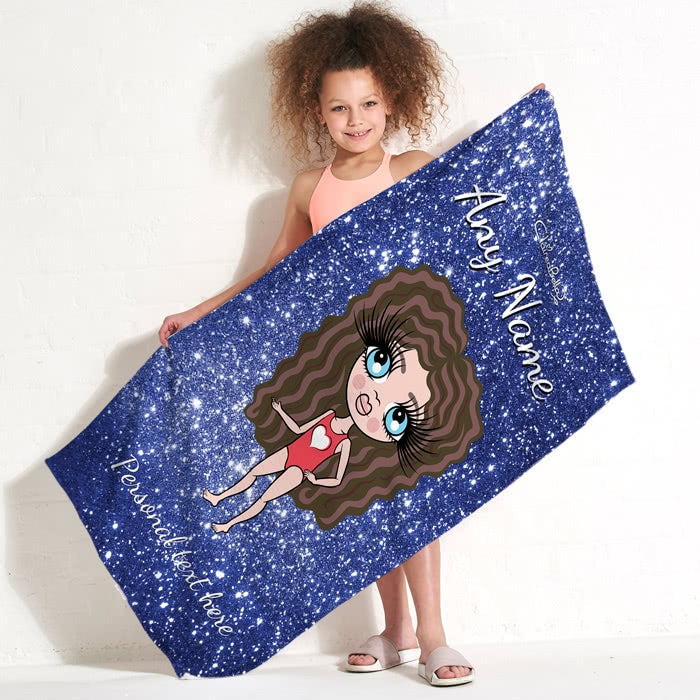 ClaireaBella Girls Glitter Effect Beach Towel - Image 4
