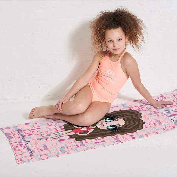 ClaireaBella Girls Selfie Beach Towel - Image 3