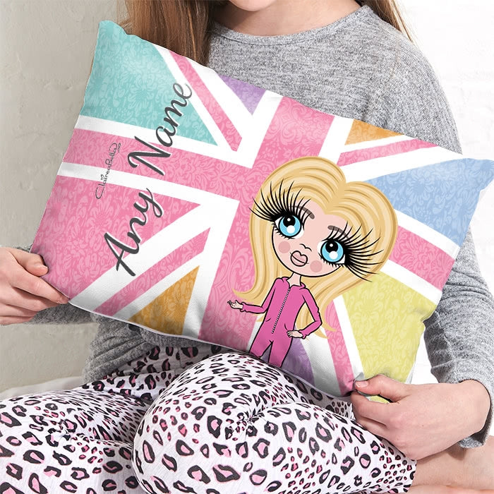 ClaireaBella Girls Placement Cushion - Union Jack - Image 2
