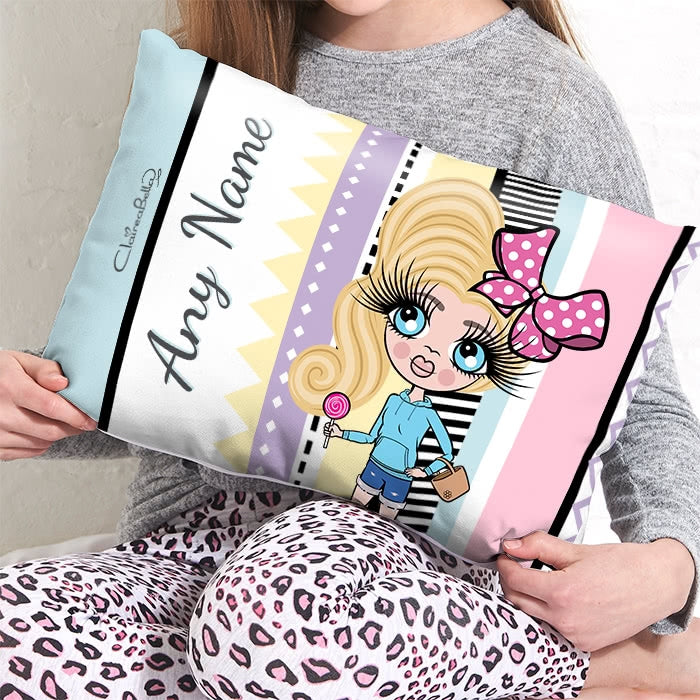 ClaireaBella Girls Placement Cushion - Pastel Pop - Image 2