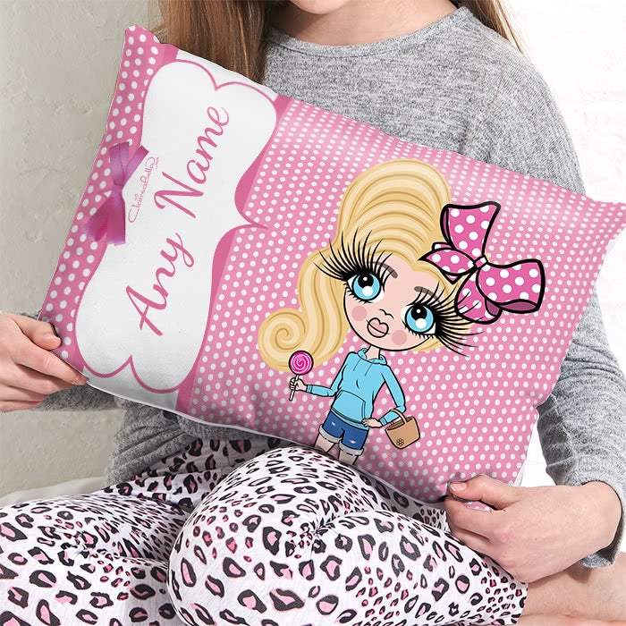 ClaireaBella Girls Placement Cushion - Polka Dot - Image 1