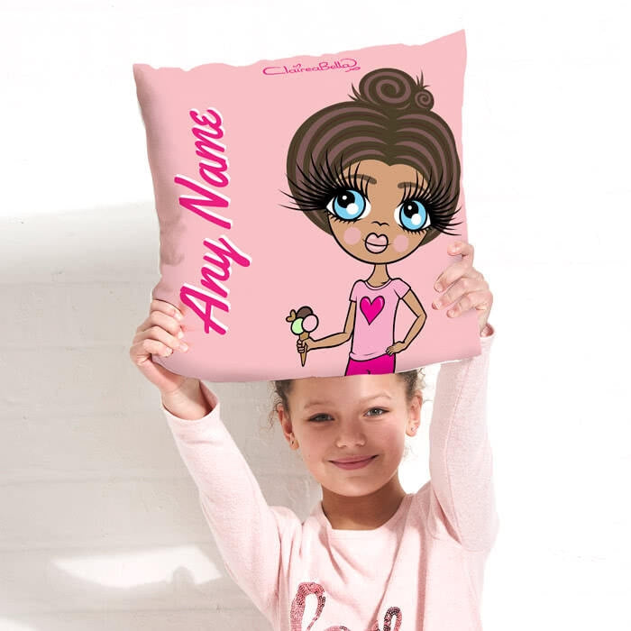 ClaireaBella Girls Square Cushion - Close Up - Image 3
