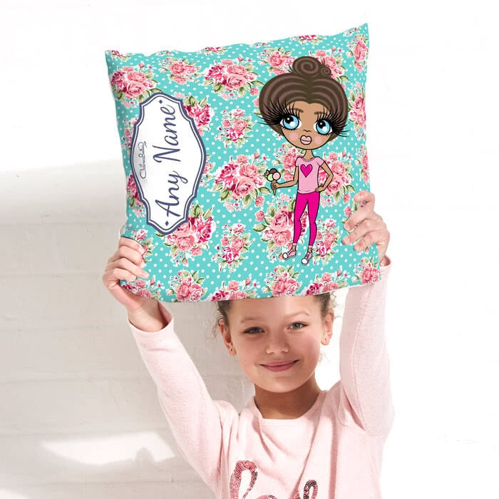 ClaireaBella Girls Square Cushion - Rose - Image 3