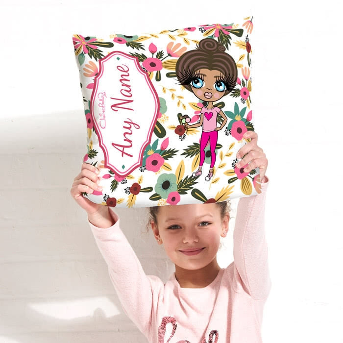 ClaireaBella Girls Square Cushion - Classic Floral - Image 3