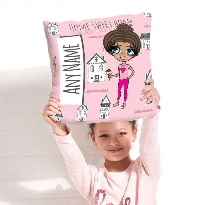 ClaireaBella Girls Square Cushion - Home Sweet Home - Image 3