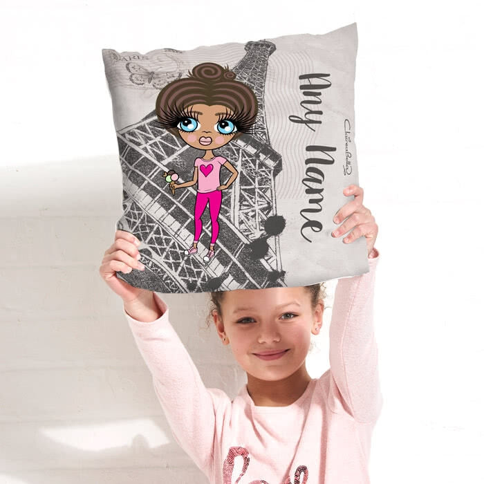 ClaireaBella Girls Square Cushion - Paris - Image 3