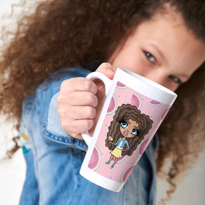 ClaireaBella Girls Watermelon Latte Mug - Image 3