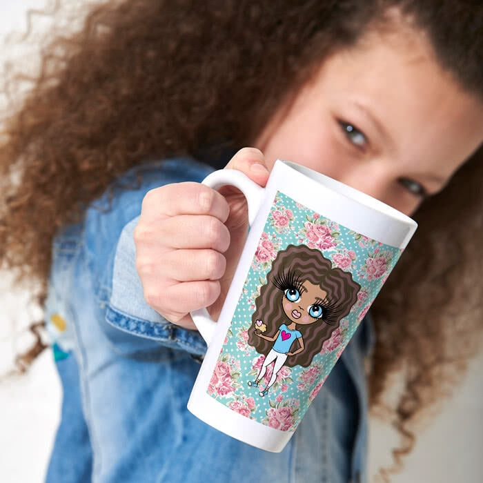 ClaireaBella Girls Rose Latte Mug - Image 1