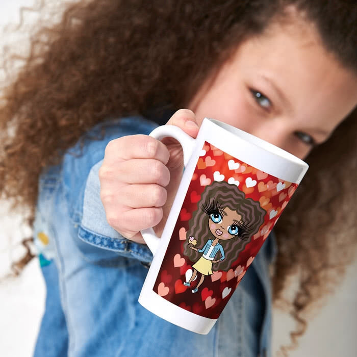 ClaireaBella Girls Heart Latte Mug - Image 1