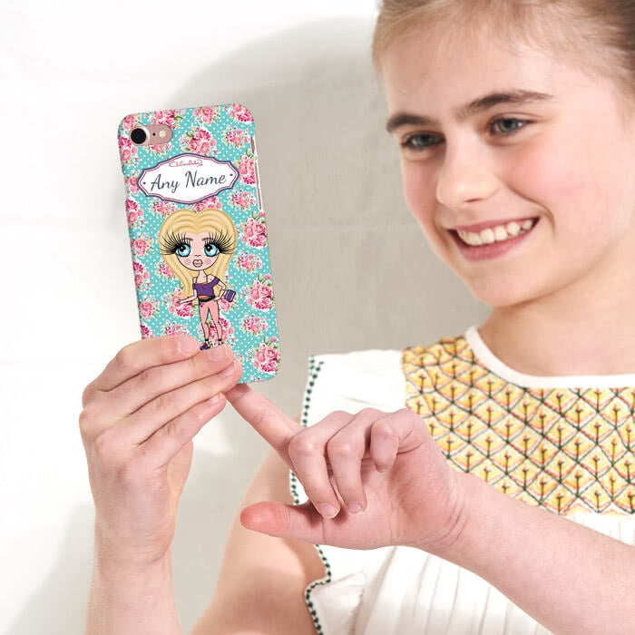 ClaireaBella Girls Personalised Rose Phone Case - Image 2