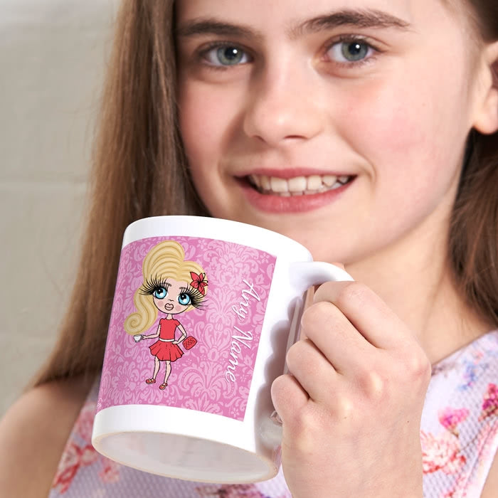 ClaireaBella Girls Lilac Floral Mug - Image 1