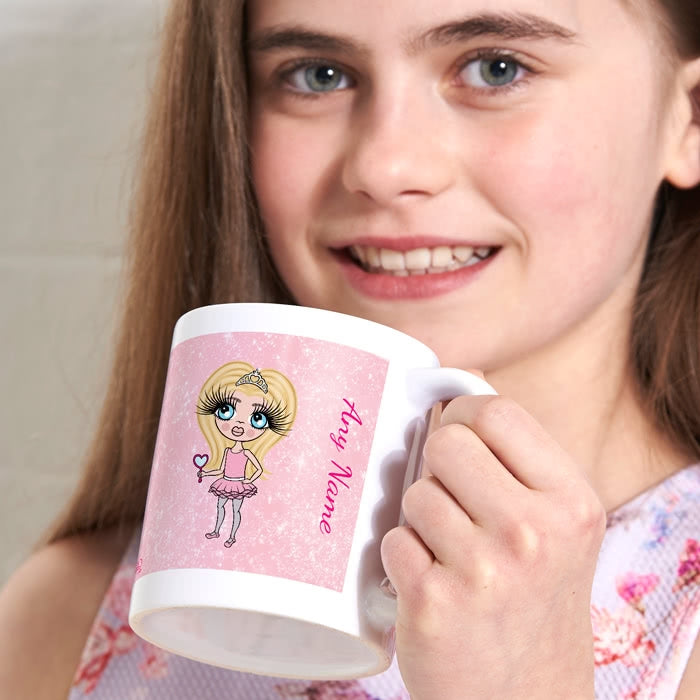 ClaireaBella Girls Baby Pink Glitter Mug - Image 1