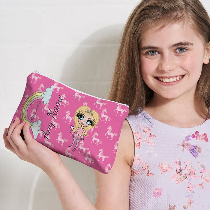 ClaireaBella Girls Unicorn Make Up Bag - Image 1