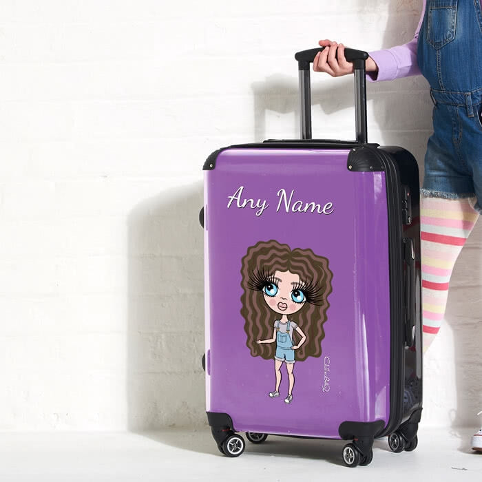 ClaireaBella Girls Purple Suitcase - Image 3