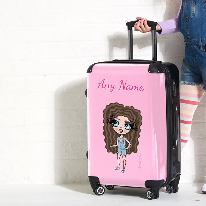 ClaireaBella Girls Pastel Pink Suitcase - Image 2