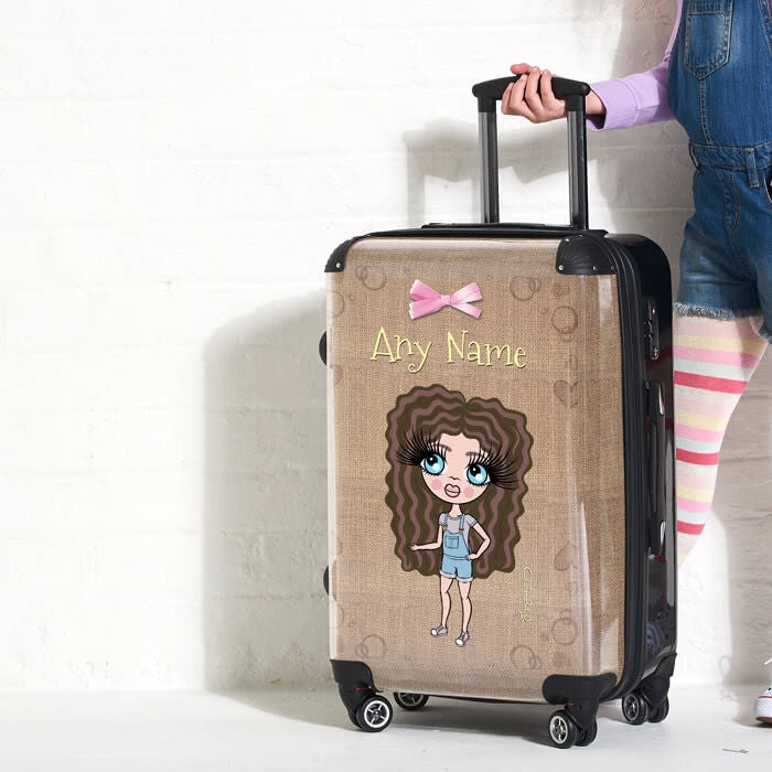 ClaireaBella Girls Jute Print Suitcase - Image 3