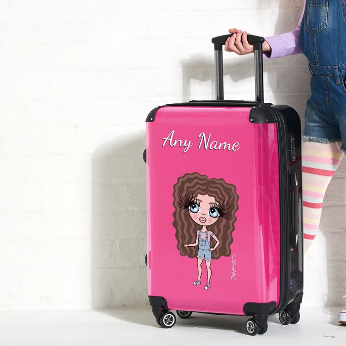 ClaireaBella Girls Hot Pink Suitcase - Image 3