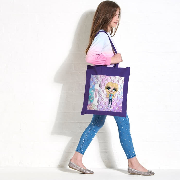 ClaireaBella Girls Unicorn Emoji Colour Pop Canvas Bag - Image 5