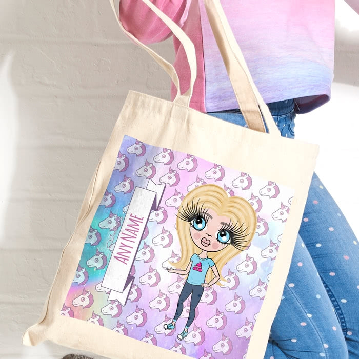 ClaireaBella Girls Unicorn Emoji Canvas Bag - Image 2