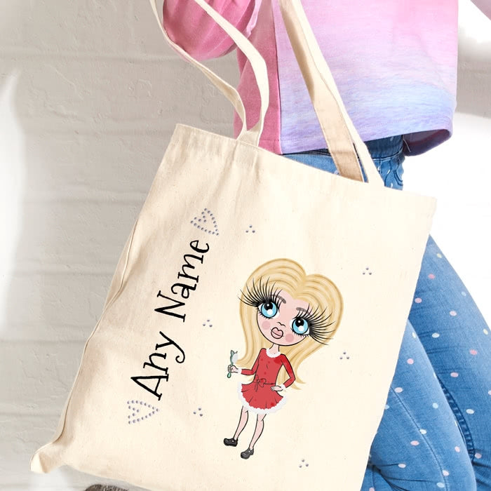 ClaireaBella Girls Christmas Canvas Bag - Image 2