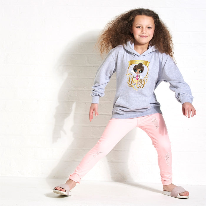 ClaireaBella Girls Princess Hoodie - Image 1