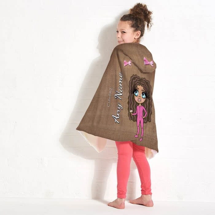 ClaireaBella Girls Jute Print Hooded Blanket - Image 7