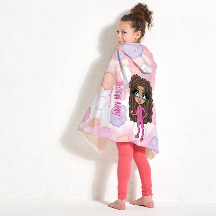ClaireaBella Girls Marshmallow Hooded Blanket - Image 1