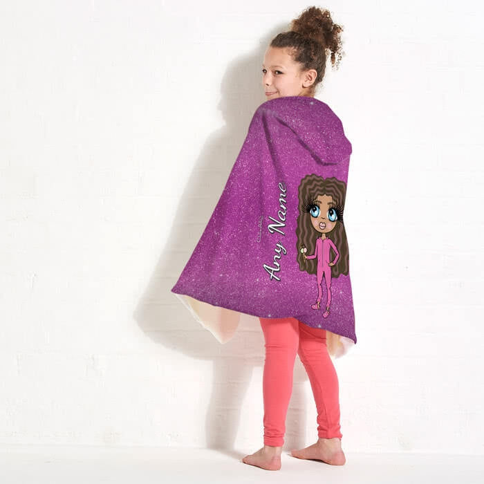 ClaireaBella Girls Glitter Effect Hooded Blanket - Image 3