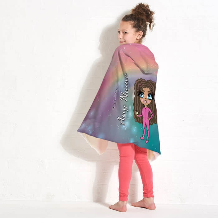 ClaireaBella Girls Unicorn Colours Hooded Blanket - Image 4