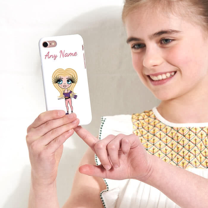 ClaireaBella Girls Personalised White Phone Case - Image 2