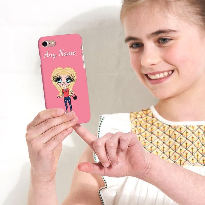 ClaireaBella Girls Personalised Pink Phone Case - Image 3