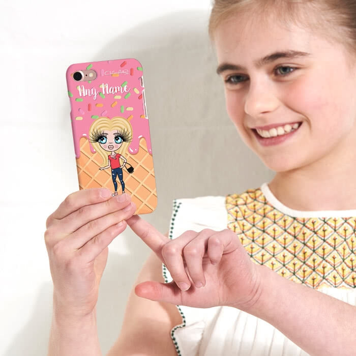 ClaireaBella Girls Personalised Ice Lolly Phone Case - Image 3