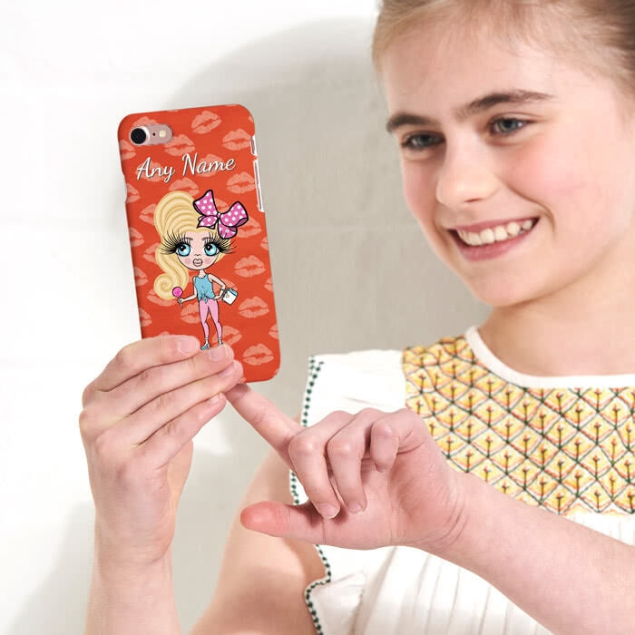 ClaireaBella Girls Personalised Lip Print Phone Case - Image 2