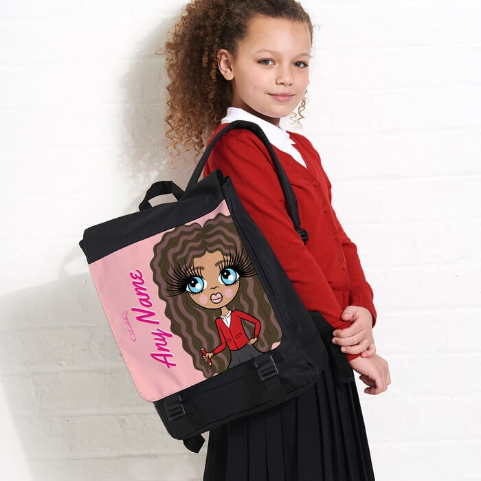 ClaireaBella Girls Close Up Large Backpack - Image 1