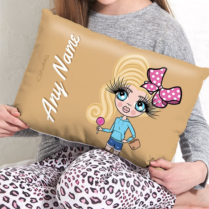 ClaireaBella Girls Placement Cushion - Mocha - Image 3