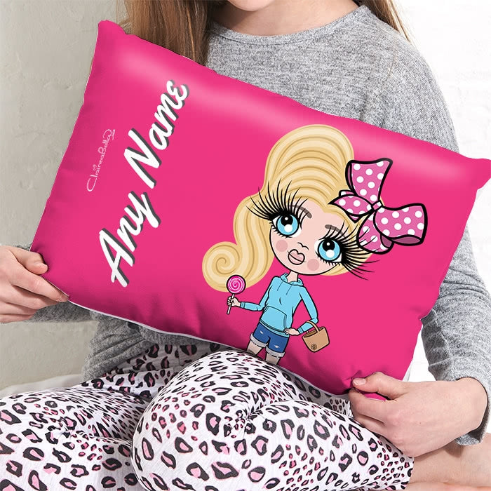ClaireaBella Girls Placement Cushion - Hot Pink - Image 1
