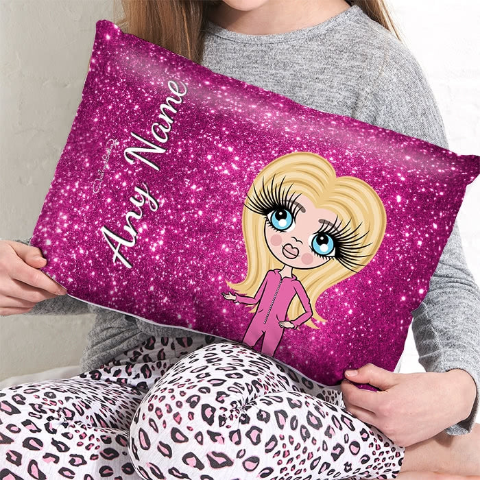ClaireaBella Girls Placement Cushion - Glitter Print Effect - Image 2