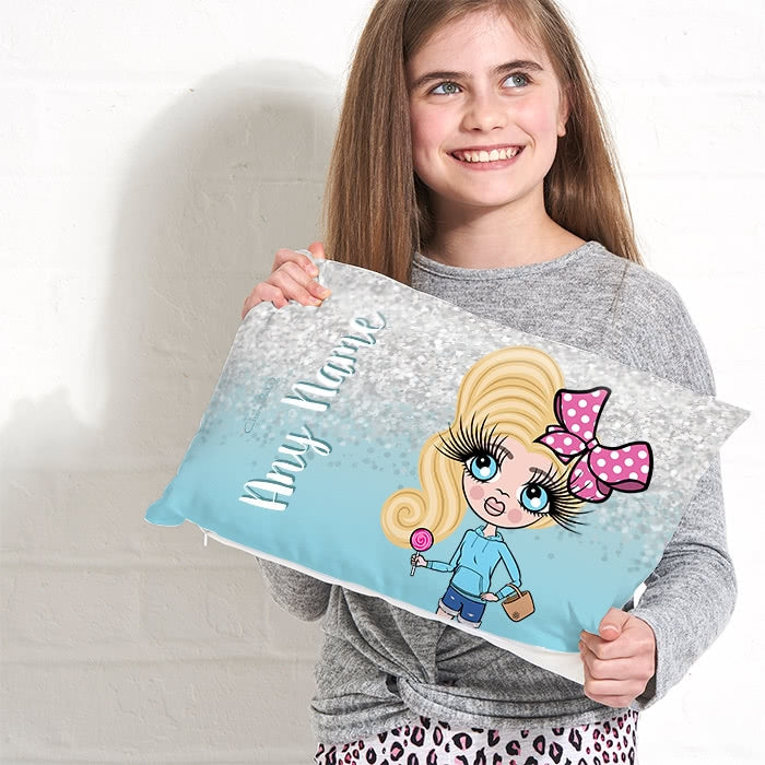 ClaireaBella Girls Placement Cushion - Crystal Blue - Image 3