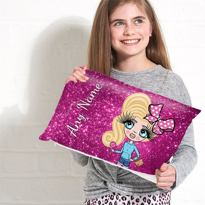 ClaireaBella Girls Placement Cushion - Glitter Print Effect - Image 3
