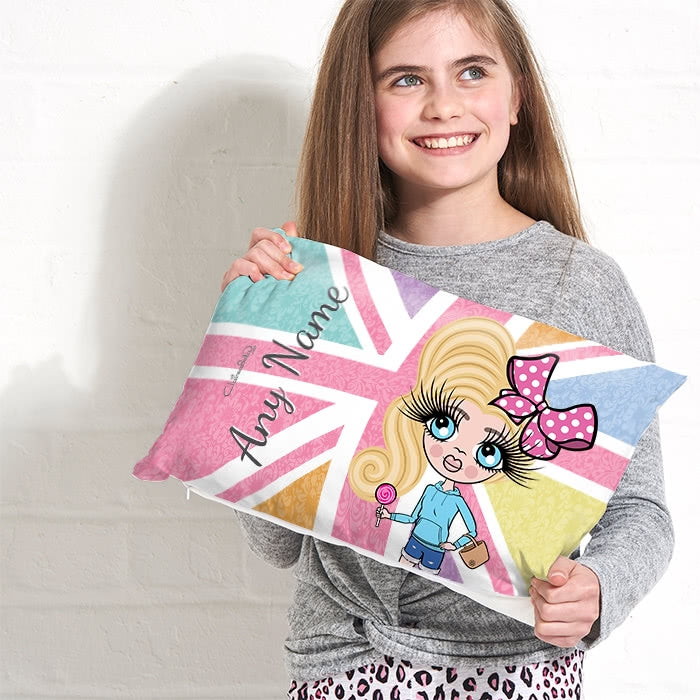 ClaireaBella Girls Placement Cushion - Union Jack - Image 3