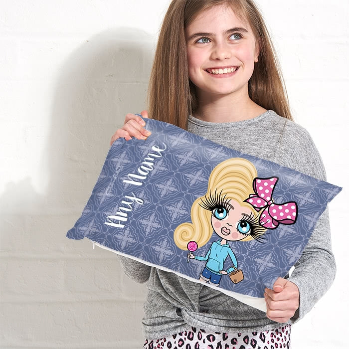 ClaireaBella Girls Placement Cushion - Navy - Image 2