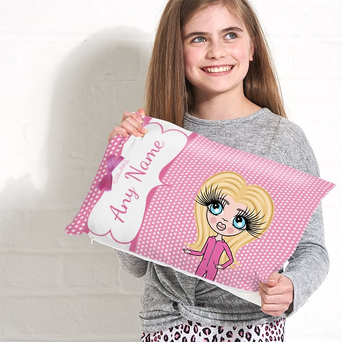 ClaireaBella Girls Placement Cushion - Polka Dot - Image 3