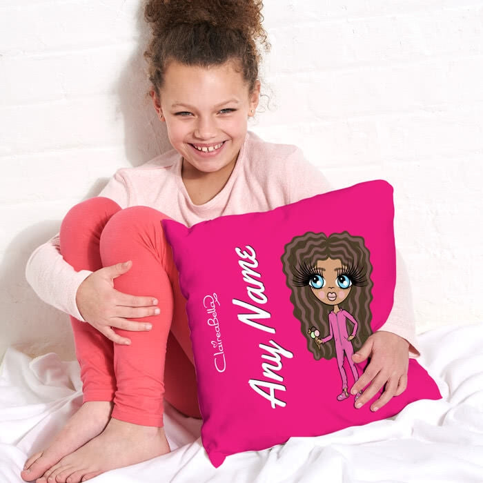 ClaireaBella Girls Square Cushion - Hot Pink - Image 3