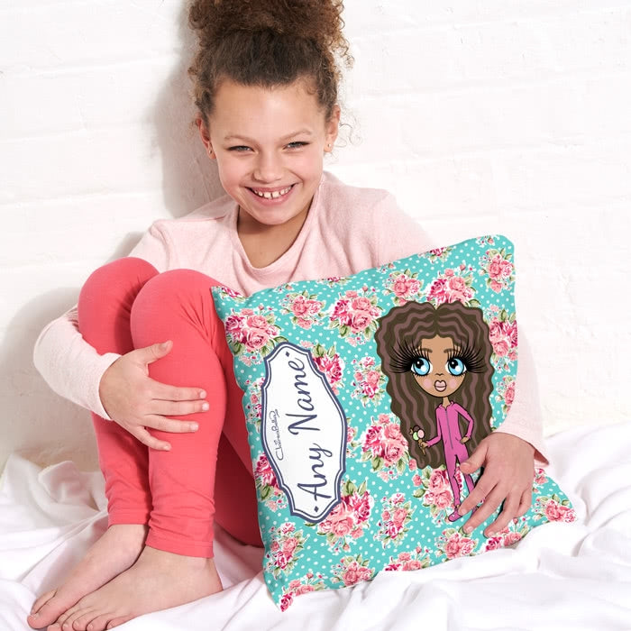 ClaireaBella Girls Square Cushion - Rose - Image 2