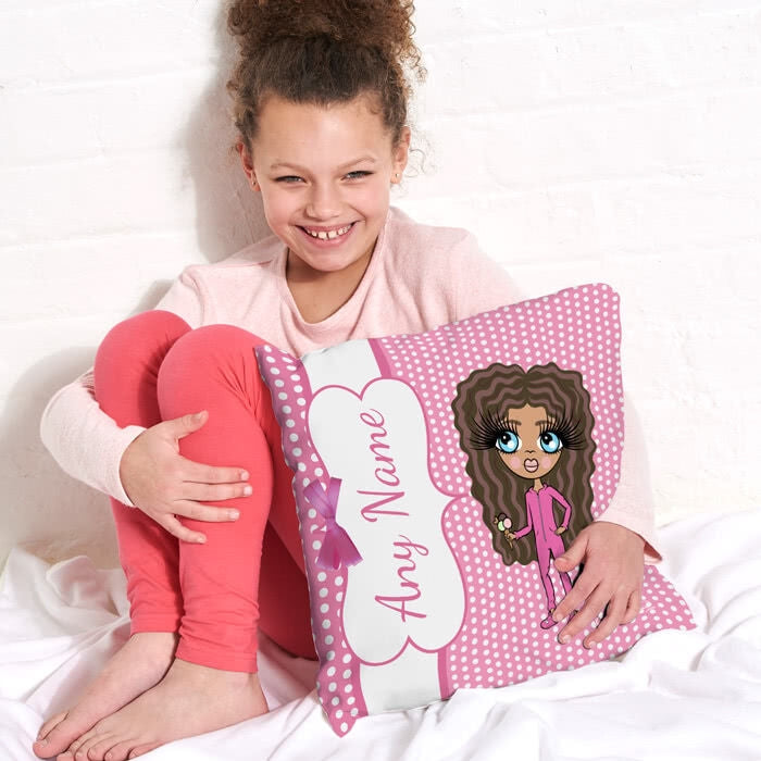 ClaireaBella Girls Square Cushion - Polka Dot - Image 1