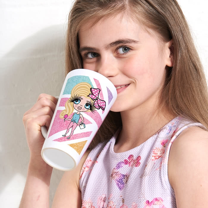 ClaireaBella Girls Union Jack Latte Mug - Image 3
