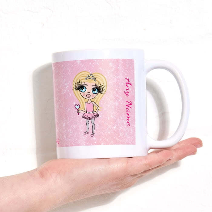 ClaireaBella Girls Baby Pink Glitter Mug - Image 5