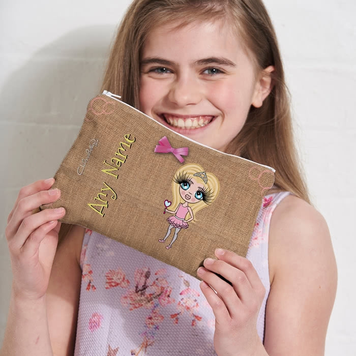 ClaireaBella Girls Jute Print Make Up Bag - Image 2