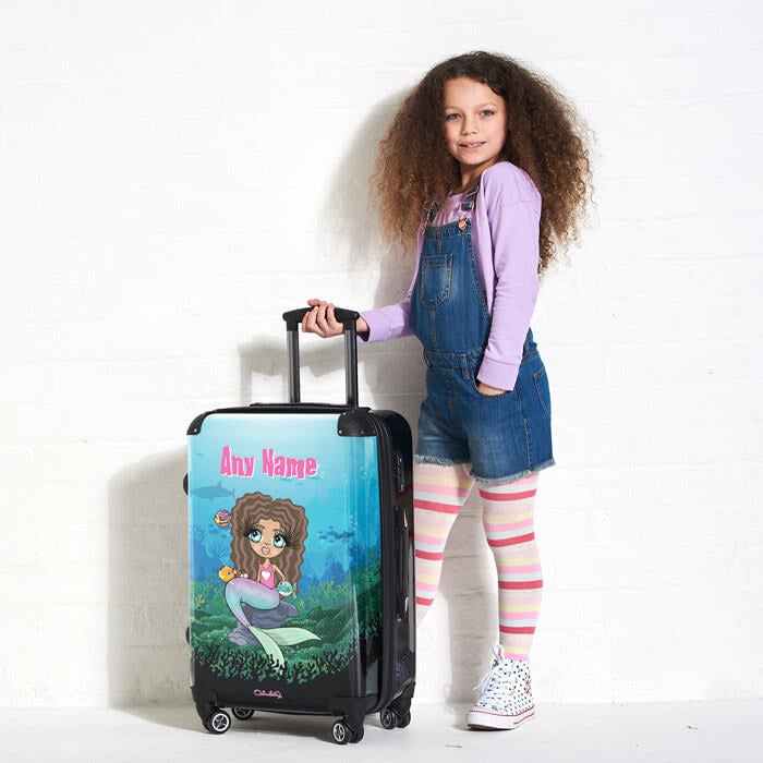 ClaireaBella Girls Mermaid Suitcase - Image 1