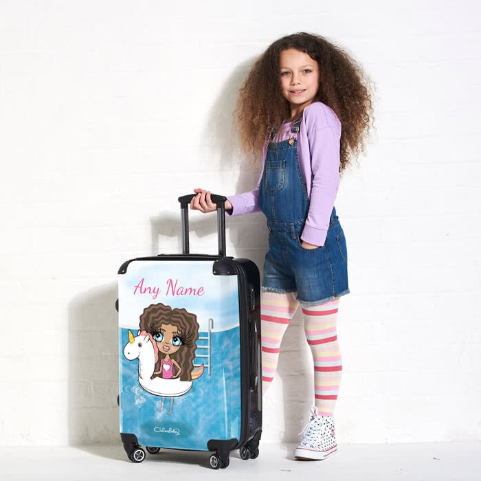 ClaireaBella Girls Unicorn Float Suitcase - Image 3